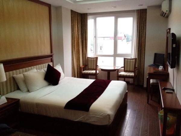 ゴールデンレジェンドホテル室内ベッド画像