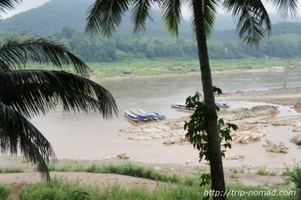 サッカリン通りの突当りから見たメコン川画像