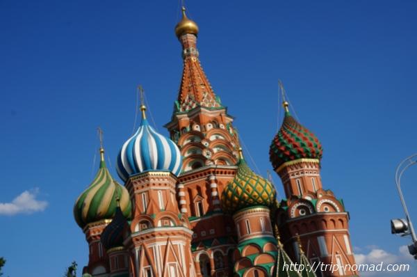 「聖ワシリー寺院」モスクワ画像