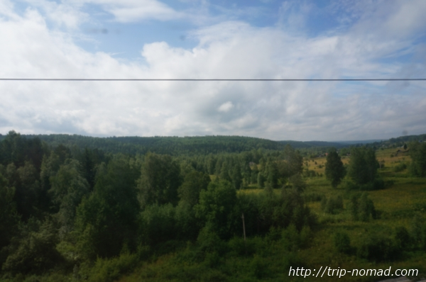 シベリア鉄道の車窓画像