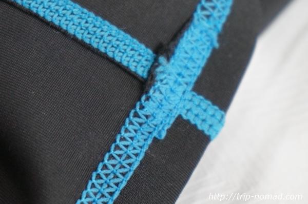ラッシュガード縫製部分アップ画像
