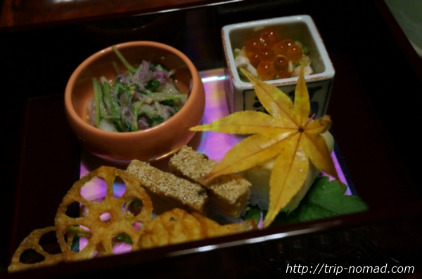 箱根湯本「萬翠楼 福住」夕食画像