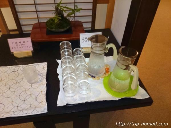 箱根湯本「萬翠楼 福住」浴室前のお水画像