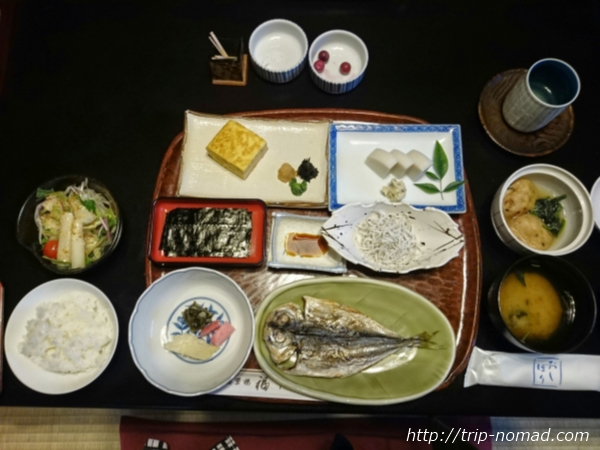 箱根湯本「萬翠楼 福住」朝食画像