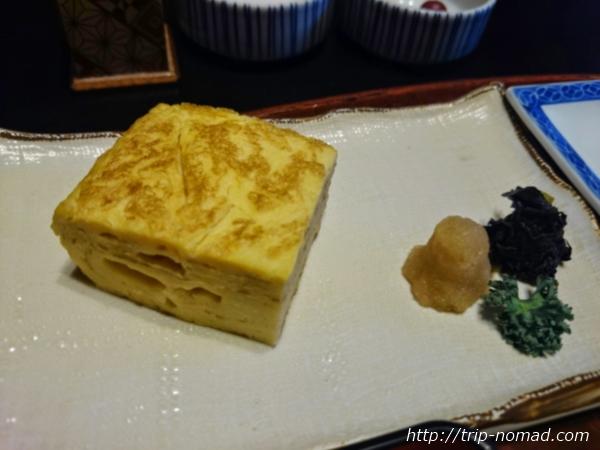 箱根湯本「萬翠楼 福住」朝食玉子焼き画像