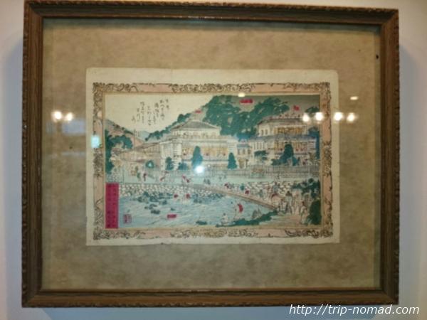 箱根湯本「萬翠楼 福住」昔の宿周辺の絵画像