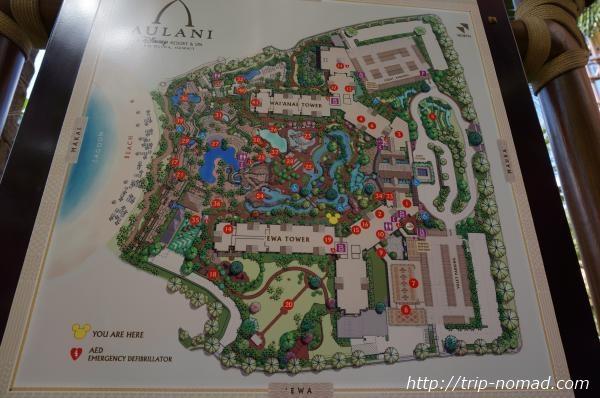 『アウラニ・ディズニー・リゾート&スパ』園内地図画像