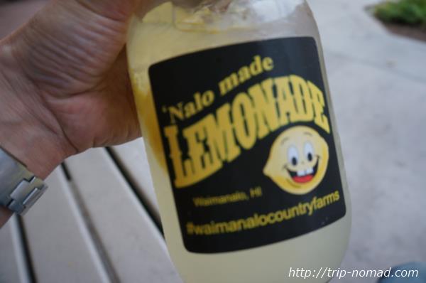 『カイルア・ファーマーズマーケット』ナロ・メイドのレモネードボトル画像