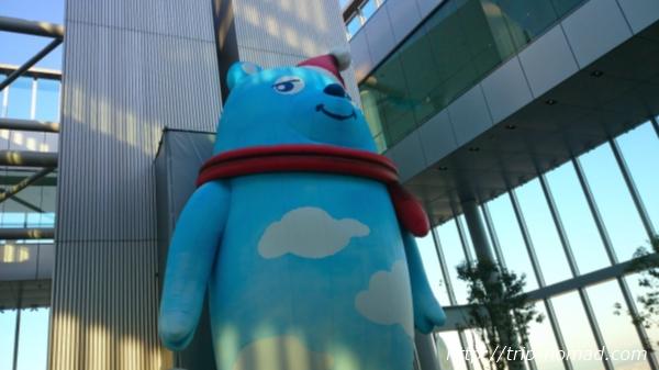 大阪マリオット都ホテル展望台ハルカス300のキャラクター「あべのべあ」画像