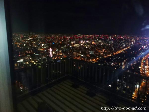 大阪マリオット都ホテル眺望夜画像