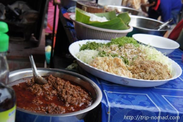 『ラオスのローカル料理』カオソイ画像