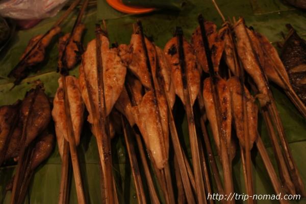 『ラオスのローカル料理』バーベキュー画像