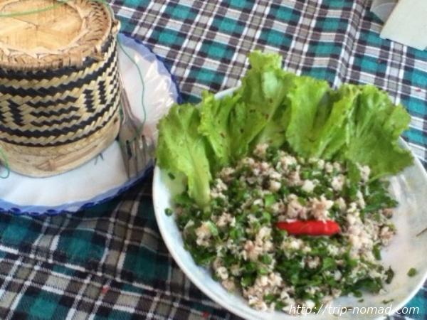 『ラオスのローカル料理』魚のラープ画像