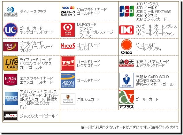羽田空港ラウンジで使用できるクレジットカード画像