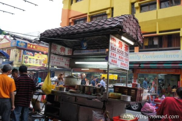 『クアラルンプールチャイナタウン』肉骨茶の屋台画像