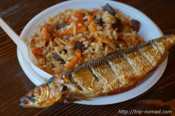 リストビャンカ・バイカル湖魚市場プロフとオームリの燻製画像