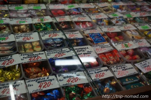 ロシアのイルクーツク市場ロシアンチョコ場画像