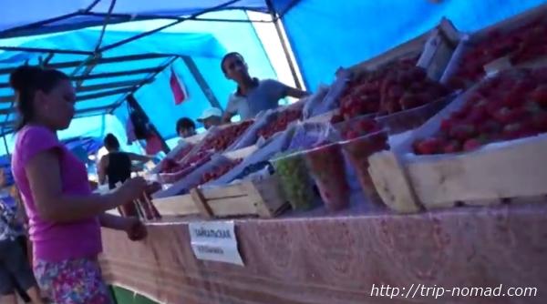 ロシアのイルクーツク市場場外画像