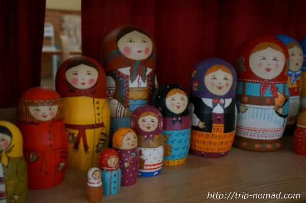 セルギエフパッサードマトリョーシカ工場できあがりマトリョーシカ画像