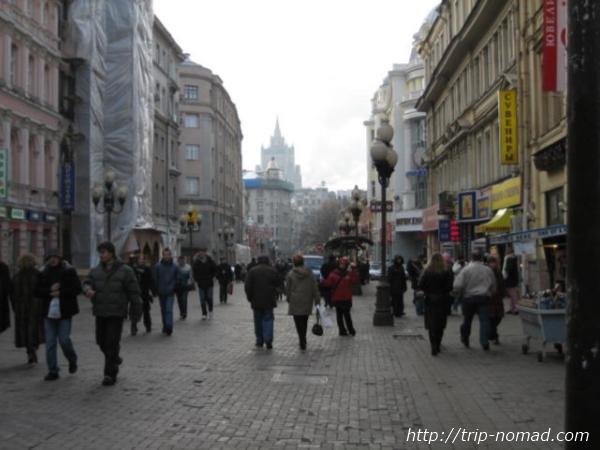 2008年当時のモスクワ・アルバート通り画像