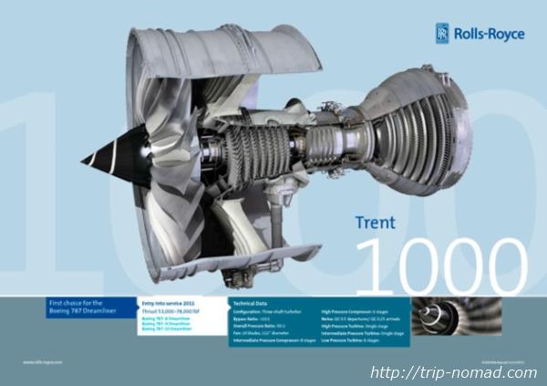 航空機エンジン『ロールスロイス社「トレント」』画像