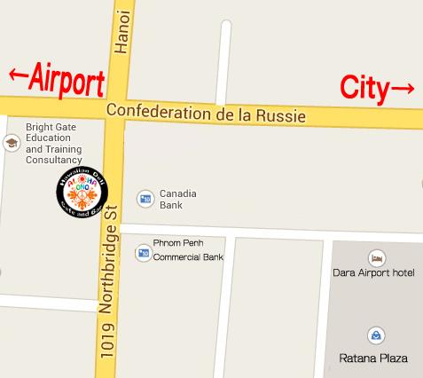 カンボジア『ALOHA ONO』地図画像