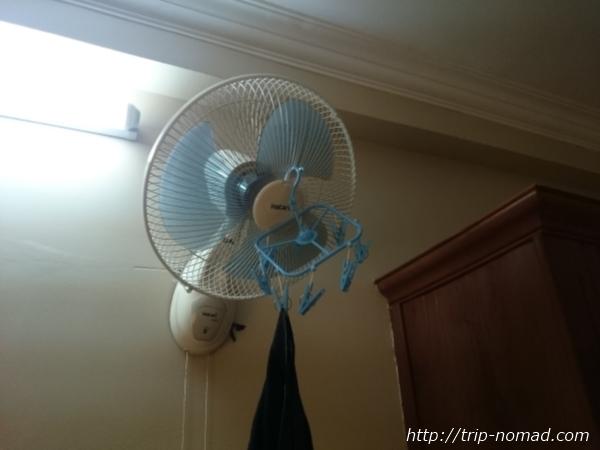 カンボジア・シェムリアップランドリー扇風機画像