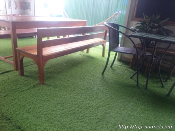 カンボジア『Green on Peace cafe&bar(グリーン・オン・ピース カフェ&バー)』店内画像