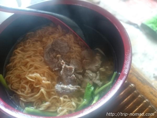 カンボジア・シェムリアップ・クロマーヤマトゲストハウス朝食ラーメン画像