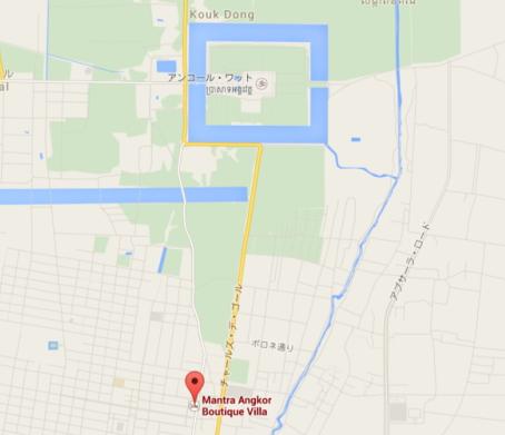 カンボジア『マントラ アンコール ブティック ヴィラ』地図マップ画像