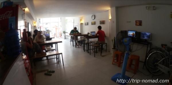 カンボジア・プノンペン・『ワンストップ・ホステル』1階部分画像