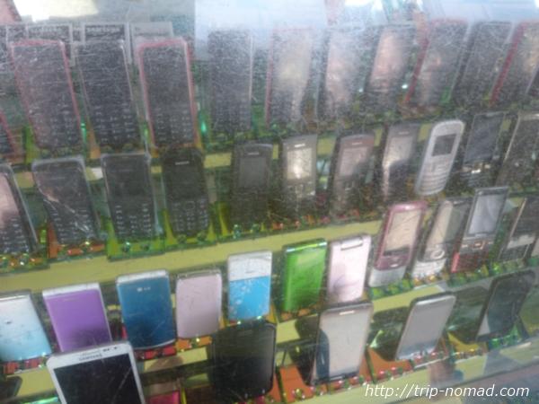 【カンボジア】シェムリアップ日本語ができるお姉さんがいる「BROS THOM MOBILE PHONE SHOP」ショーケース画像