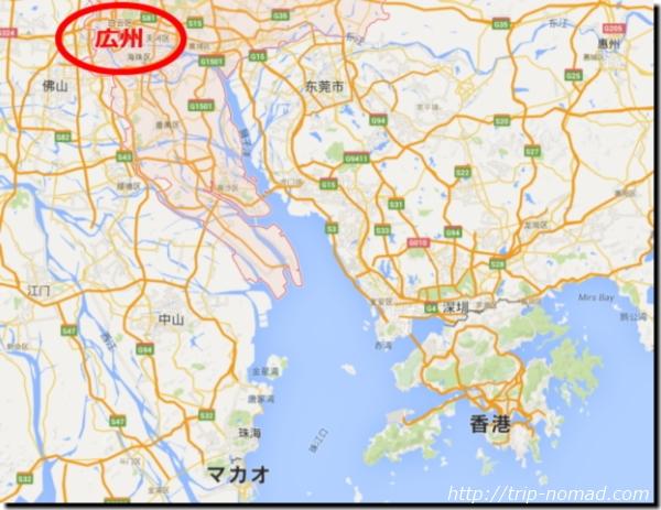 中国「広州」地図・場所画像
