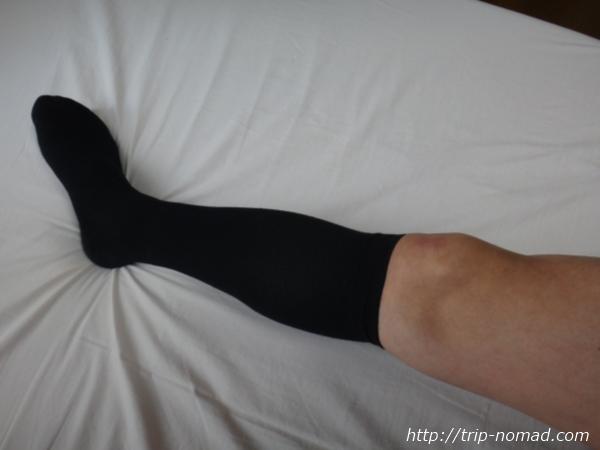 イタリア製『着圧靴下』着用時画像