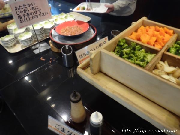 『マホロバマインズ三浦』朝食ビュッフェハチミツ入り塩辛画像