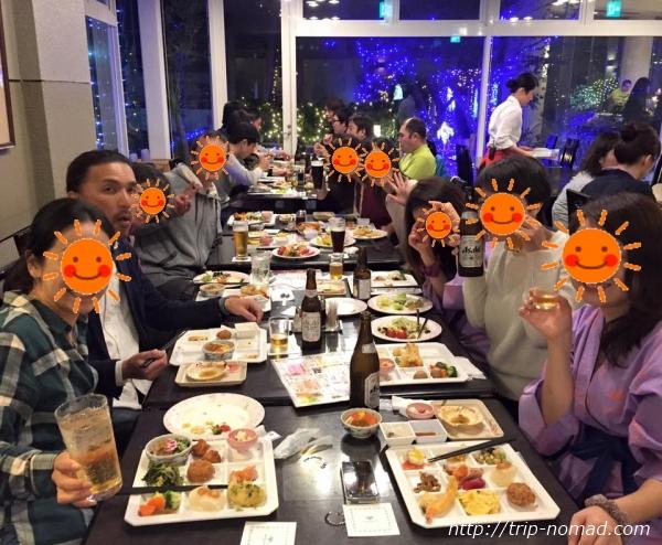 『マホロバマインズ三浦』夕飯時ビュッフェ画像