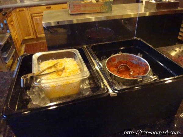 アメリカ・セドナ『セドナ・リアル・イン・スイーツ』朝食トッピングのチーズとサルサソー画像
