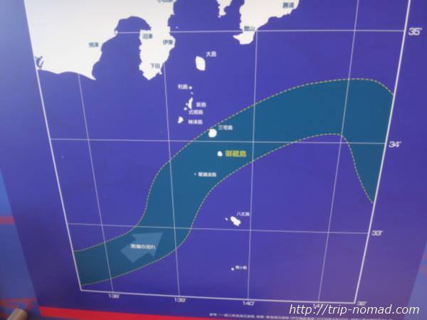御蔵島「黒潮」の流れ画像