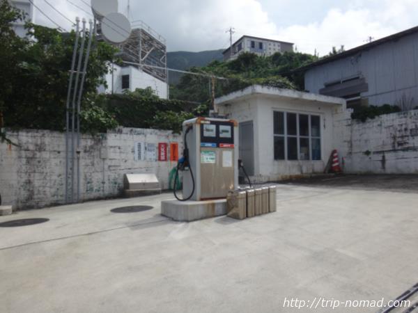 御蔵島『ガソリンスタンド』画像