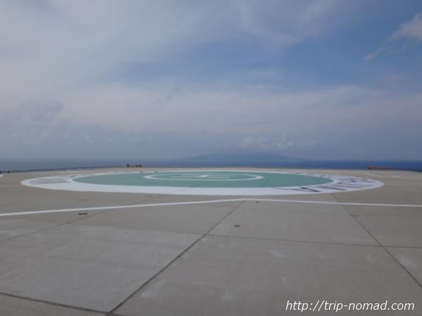 御蔵島『ヘリポート』画像