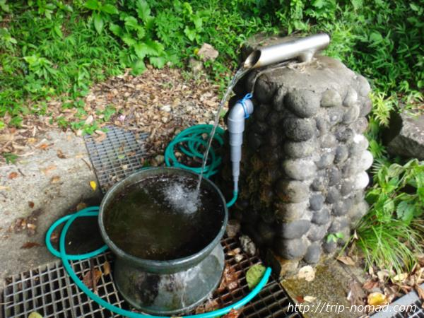 御蔵島『西川水飲み場』画像