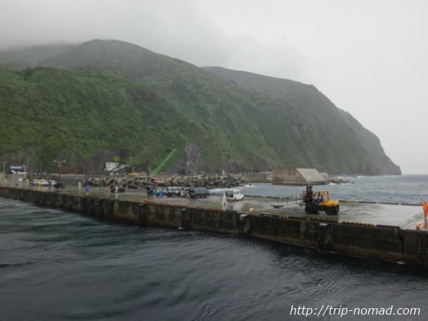 御蔵島桟橋画像