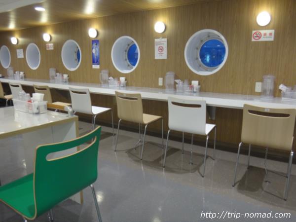 御蔵島行き東海汽船「橘丸」レストラン画像