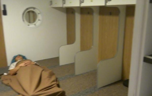 御蔵島行き東海汽船「橘丸」「2等船室」画像
