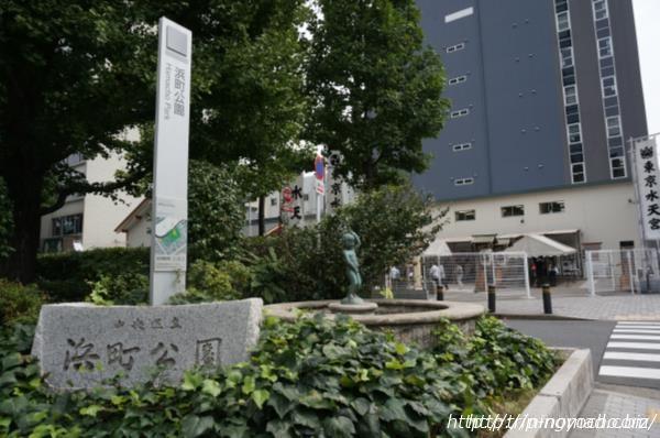 日本橋人形町『水天宮仮宮』浜町駅小便小僧画像