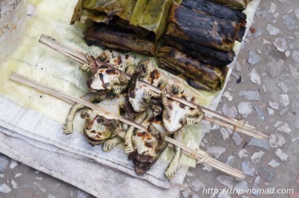 ラオス『ルアンパバーン』食材カエル画像