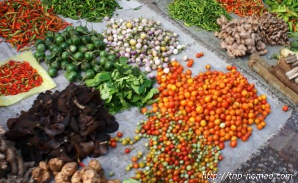 ラオス『ルアンパバーン』食材野菜画像