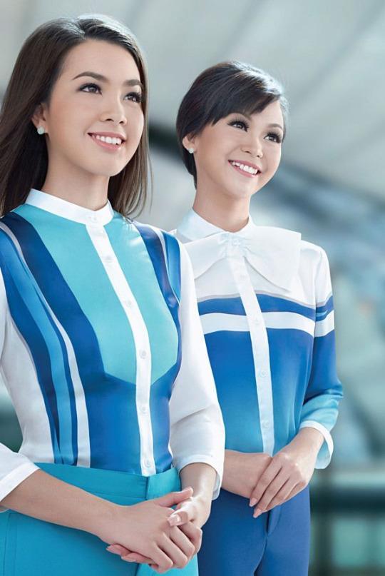 『 世界一おしゃれな客室乗務員の制服』バンコクエアウェイズ(Bangkok Airways)画像