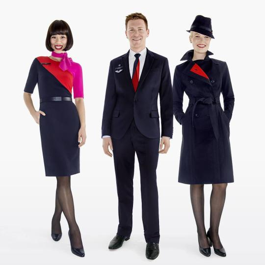 『 世界一おしゃれな客室乗務員の制服』カンタス航空(Qantas)画像