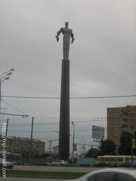 ロシアモスクワ『ガガーリンの銅像』モニュメント画像